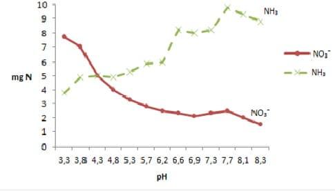 Vplyv pH na dynamiku príjmu dusičnanov a amoniaku